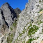Ausgesetzte Stellen vor dem Einstieg in den Klettersteig © Gipfelfieber.com