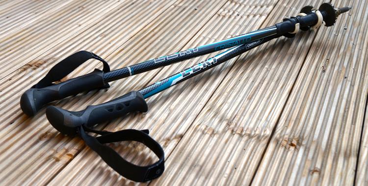 Die Leki Cristallo Trekkingströcke mit ihrem Speed-Lock-System © Gipfelfieber.com