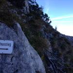 Der erste Notausstieg © Gipfelfieber.com