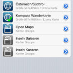 Screenshot Menü Karten