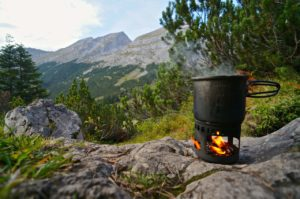 Der Esbit Kocher im Einsatz © Gipfelfieber.com