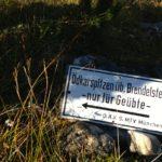 Der Abzweig zum Brendelsteig © Gipfelfieber.com