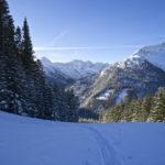 Aufstiegsspur im frischen Schnee © Gipfelfieber.com