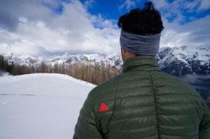 Adidas Terrex Downblaze Jacket Rückansicht (plus wirre Frisur) © Gipfelfieber.com