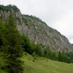 Nordwand der Horauer Spitze mit den Klettersteigen © Gipfelfieber.com