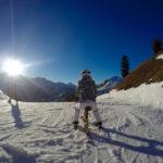 Erster Versuch auf dem Snowbike ©Gipfelfieber