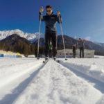 Adidas Terrex Agravic Hybrid beim Langlaufen ©Gipfelfieber