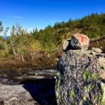 Das rote T findet man auf Wanderungen in Norwegen ©Gipfelfieber