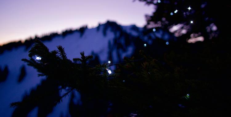 #Outdooradvent: Wie die Krettenburg zum Weihnachtsbaum kam ©Gipfelfieber