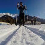 Die ersten Versuche auf Skating-Ski ©Gipfelfieber