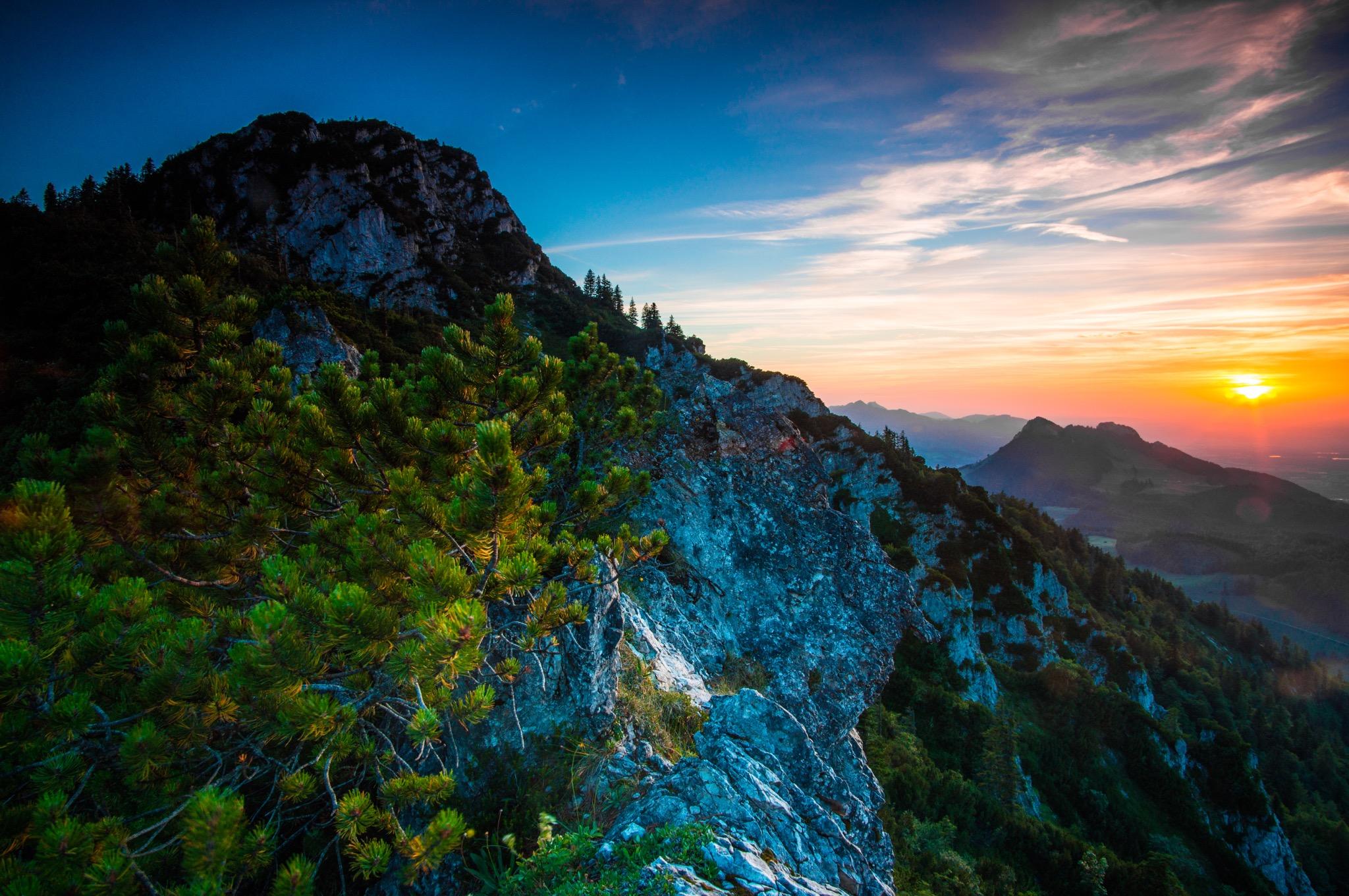 Spitzstein Nordseite beim Sonnenuntergang ©Gipfelfieber